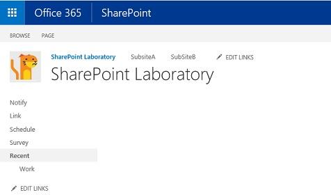SharePoint Classic Square Site Logo