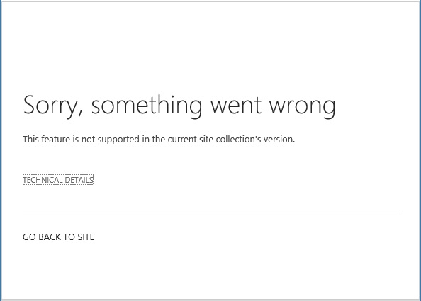 SharePoint SiteFeature Announcement Tiles Error