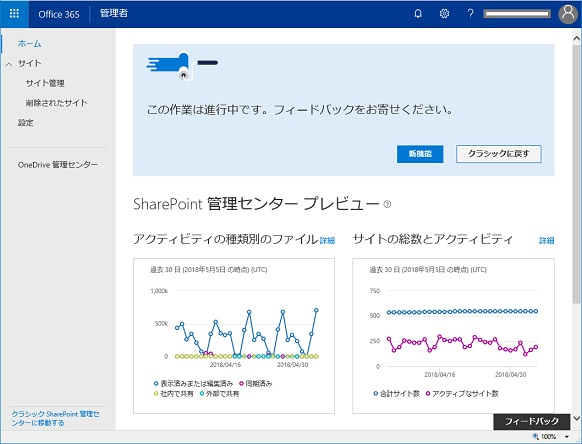 sharepoint management center new adminCenter