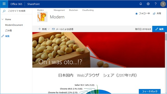 SharePoint Online Modern UI Change The Look blue