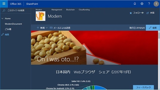 SharePoint Online Modern UI Change The Look dark blue