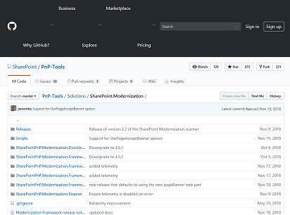 Github SharePoint PnP Tools Modern UI Scanner