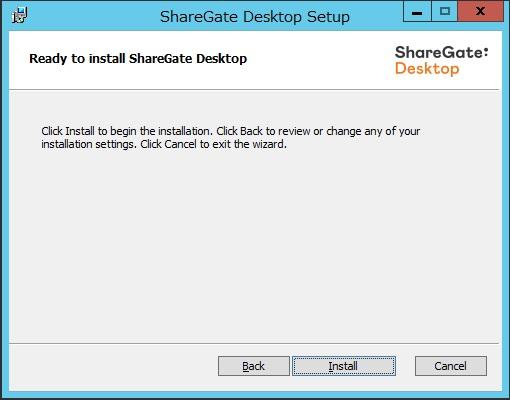 sharegate install 5