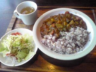 きのことサツマイモの雑穀カレー