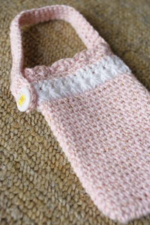 編み携帯ケース