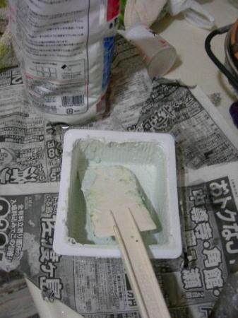 道具は家にあるもので。豆腐のパック( ̄ー ̄;)