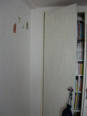 数年前に扉は白くペイントしてた。