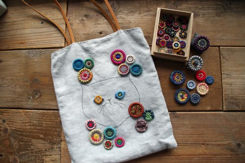小さな手仕事『糸巻きボタン』で作るアクセサリー