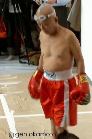 篠原 有司男 ボクシングペインティング