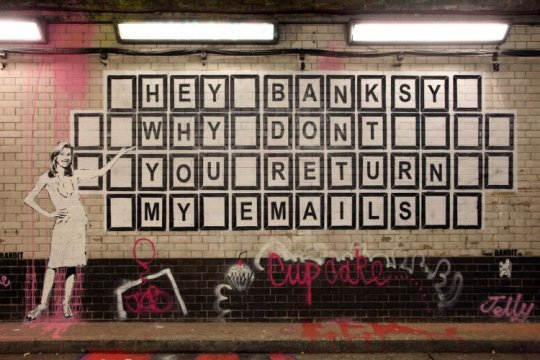 A message for Banksy