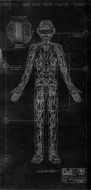 Daft Punk blueprints.