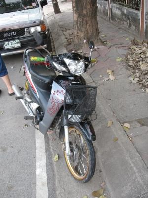 ぶつかったバイク