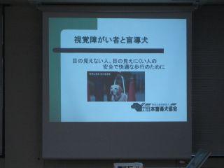 盲導犬の受け入れに関しての講習会