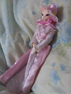 桃色ドレス