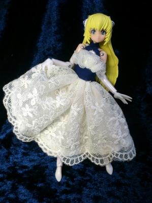 蒼と白のドレス