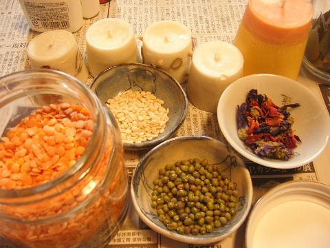 飾り付け用豆たち