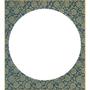 円窓 紺ドンス