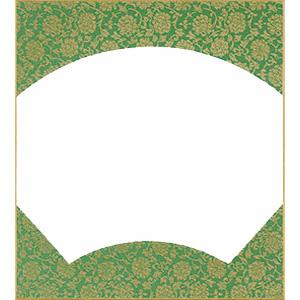 扇面 緑ドンス