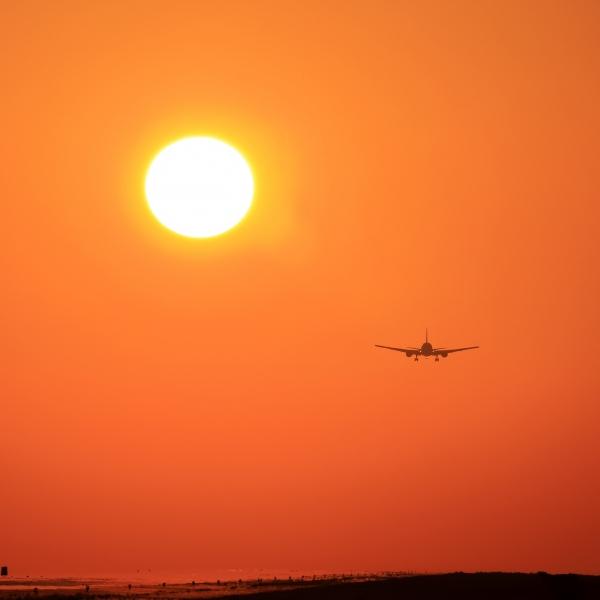 熊本空港 夕陽