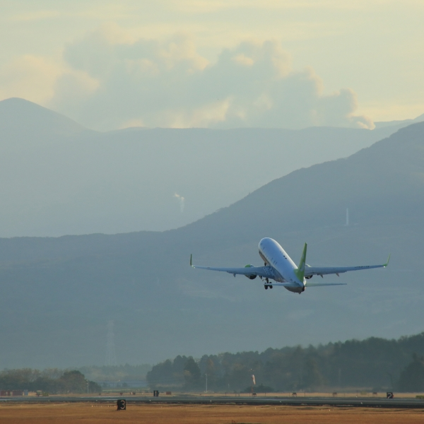 熊本空港 阿蘇山