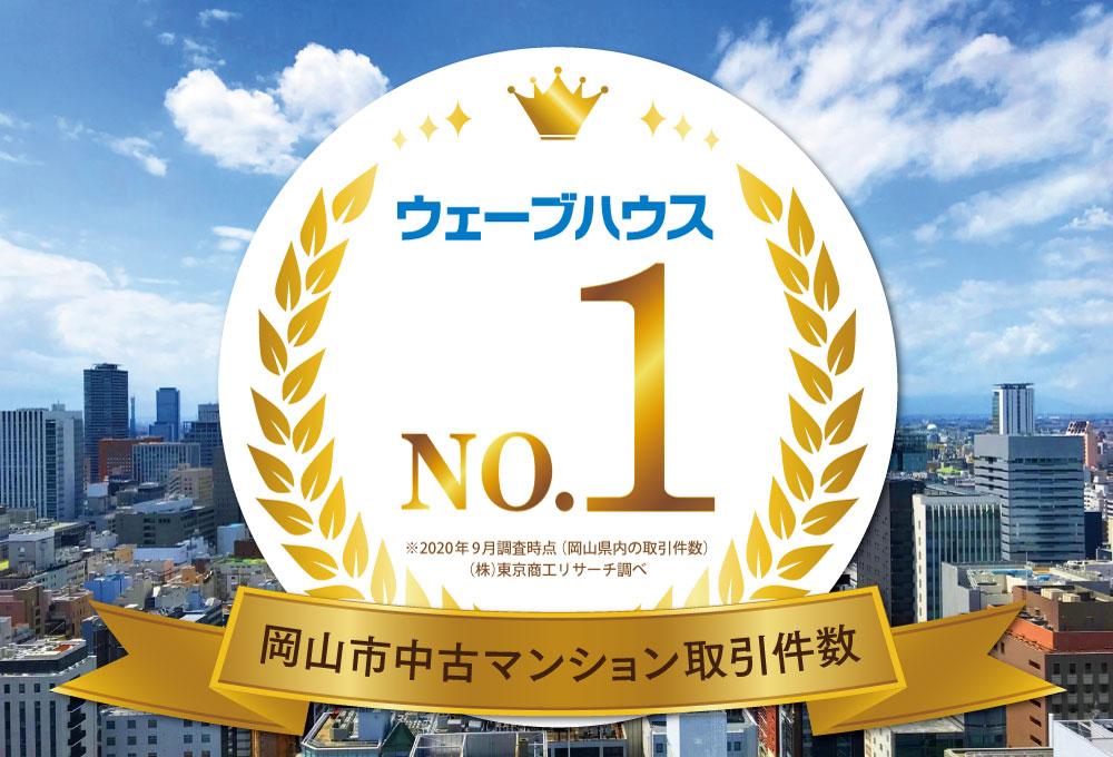 ウェーブハウス 岡山市中古取引件数 No.1