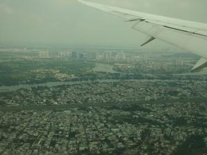 空からホーチミンの街並み