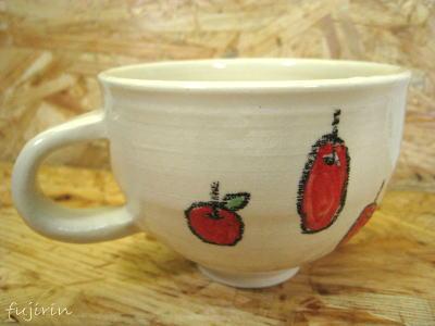 りんごマグカップ3
