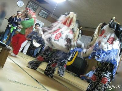 鬼沢獅子踊り8