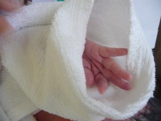 第二子赤ちゃんの指