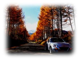 コペンと秋の紅葉