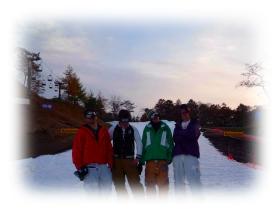 友人とスノーボード