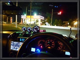 コペン夜のドライブ