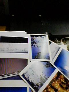 試し刷りの写真/初の試みインクジェットプリント