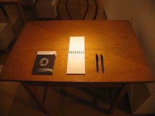 入り口/テーブルセット
