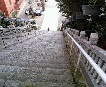 出世の階段(上から)