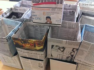 新聞紙 エコ バッグ