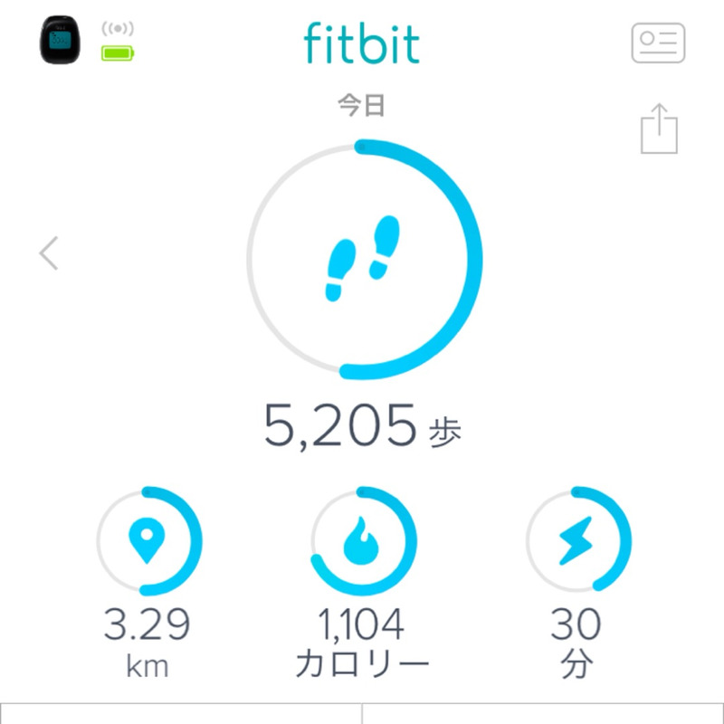 Fitbit歩数