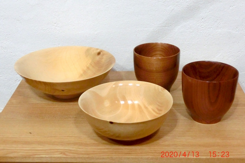 サラダボウル(中、小)と長小鉢