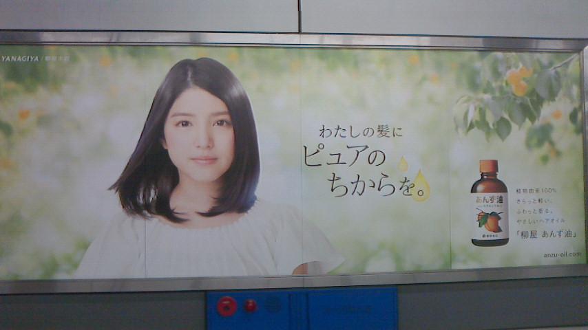 柳屋あんず油の広告