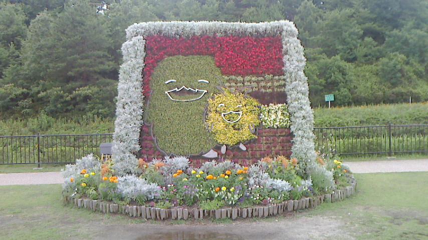 モリゾーとキッコロの花壇