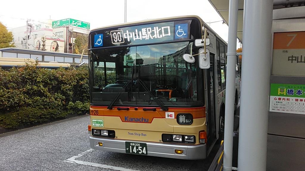 白色LED神奈中バス大和1