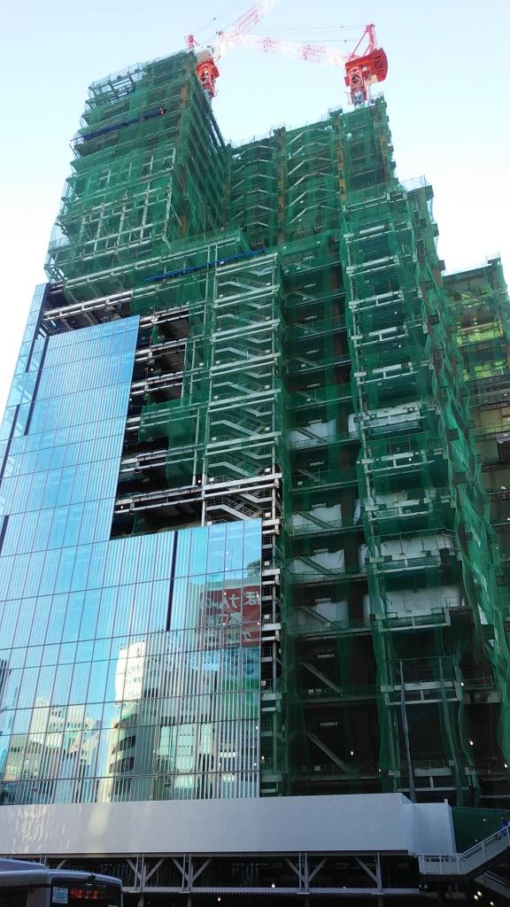 渋谷スクランブルスクエア工事中
