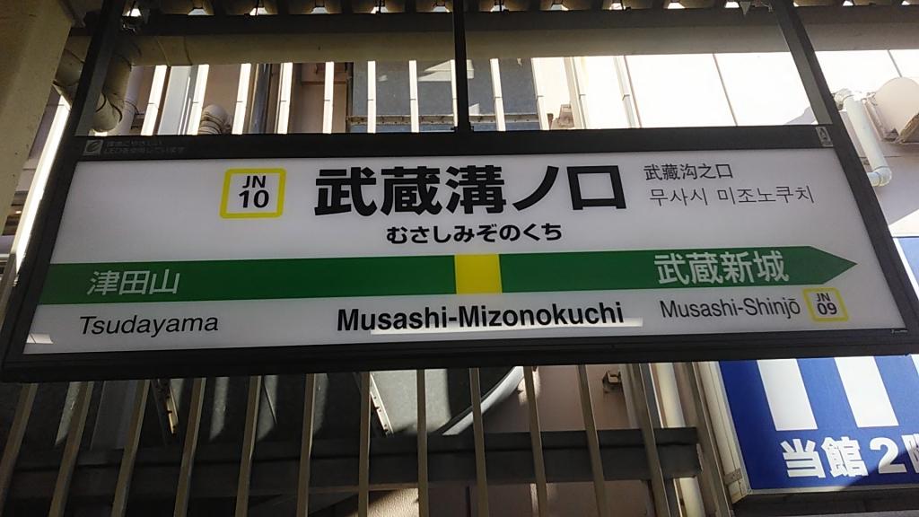 武蔵溝ノ口駅ナンバリング