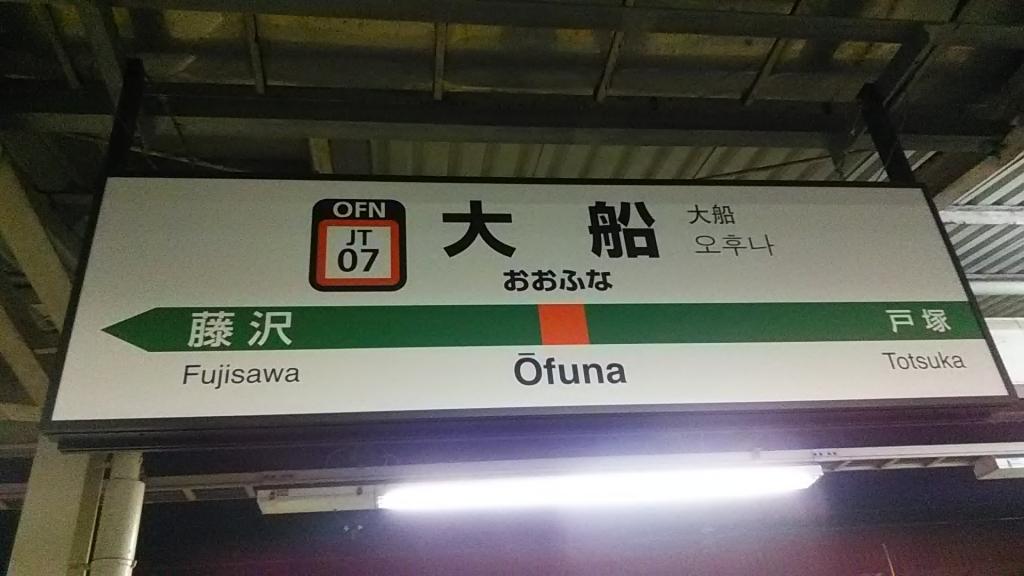 大船駅駅ナンバリング(東海道線・上野東京ライン)