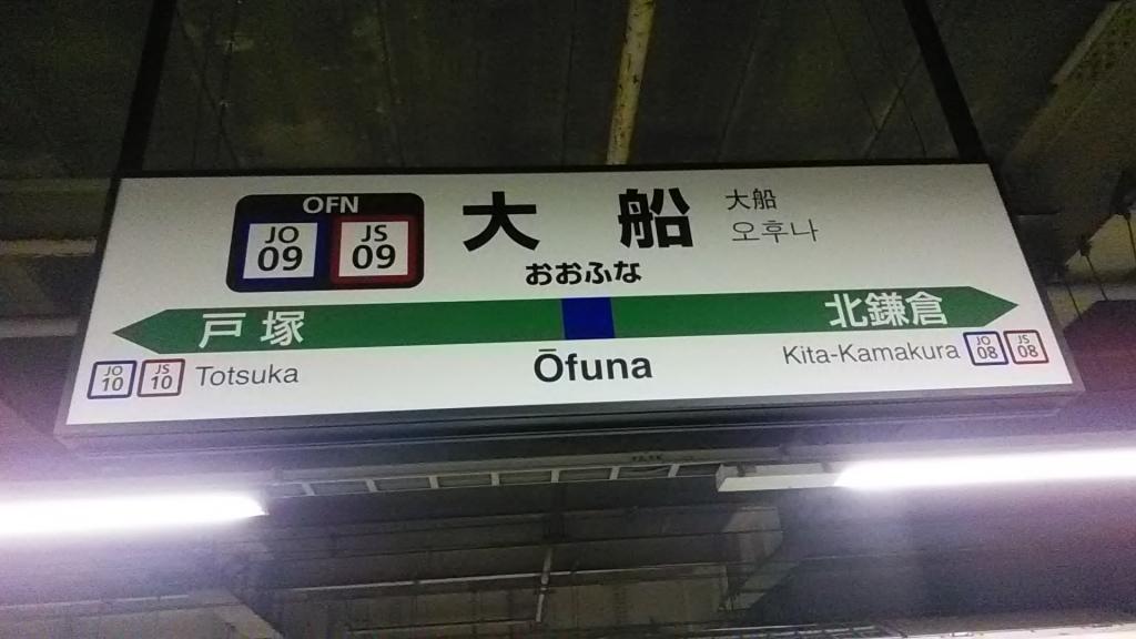 大船駅駅ナンバリング(横須賀線・湘南新宿ライン)