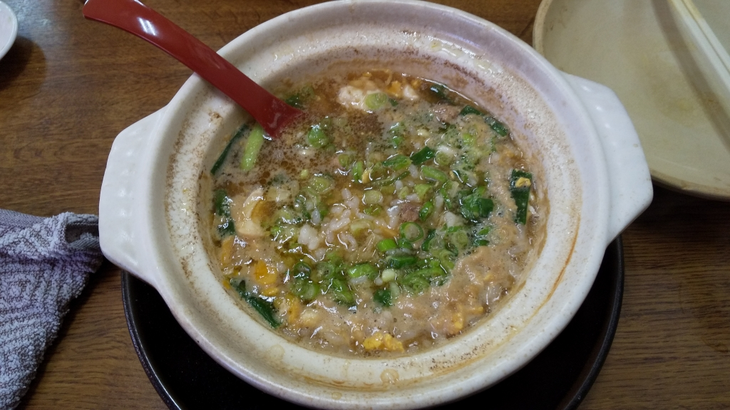 須崎の鍋焼きラーメン雑炊