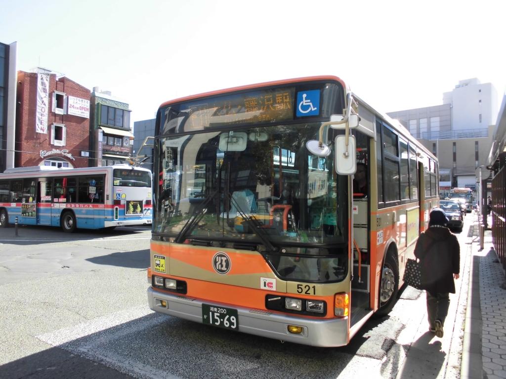 系統番号付き江ノ電バス