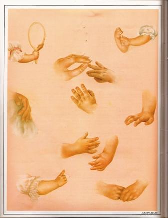 手を描いた画像