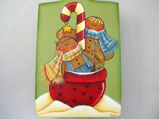 ジンジャーブレッドのクリスマスブレッドボード