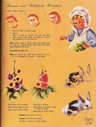 ヘレン・バリックさんのwhippersnappers Vol.11の表紙の女の子とうさぎとお花の描き方